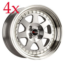 Drag Wheels DR-27 15x7 4x100 +10 Rims For Lancer Celica Golf Prelude FIt Xa