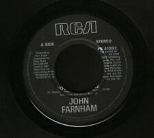 "JOHN FARNHAM you're the voice 7"" WS EX/- uk PB 41093 noc"