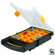 15 Bin Portable Plastic Parts Storage Case Tool Shop Mechanic Organize