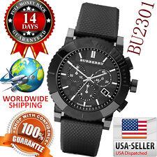 100% Authentic Burberry Men's Chronograph Black Chronograph Dial Watch BU2301