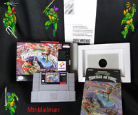 TMNT IV 🐢Turtles in Time SNES CIB AUTHENTIC Cart-Man-Dust-Tray W/ HQ Custom BOX