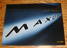 Original 2000 Maxum Sport Boats Deluxe Sales Brochure 00 2300 2100 1900 1800