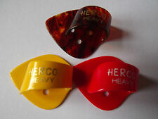 3 PACK HERCO FLAT PICK THUMB PICK HYBRID HEAVY HE113 PLASTIC ACOUSTIC ELECTRIC