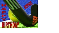 FIELD HOCKEY MALE-FEMALE ANY AGE ANY NAME A5 PERSONALISED BIRTHDAY CARD