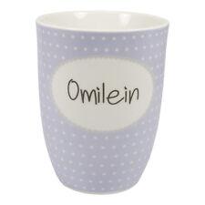 Mea Living, Omilein Oma Kaffee Tasse Becher mit Henkel Porzellan
