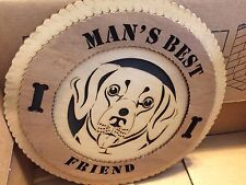 "Green Mountain Laser ""Man's Best Friend"" Wood Particle Board Dog Sign - NEW"