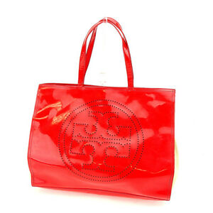 Tory Burch Tote bag Red Beige Woman Authentic Used C2464