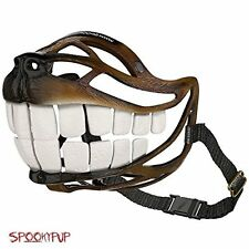 SpookyPup Hilarious Halloween Dog Costume Muzzle with Large Teeth - Turn Your a