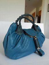 3699 Large Fendi Teal Full Cow Leather SPY Handbag