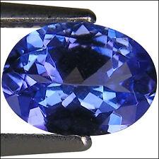 0.97  Ct AA Natural D Block Tanzanite Medium Blue Violet Color Oval Cut