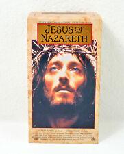 Jesus of Nazareth (VHS, 1999, 3-Tape Set) FREE SHIPPING