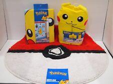 Pokemon Bath Bundle - Bathmat, Shower Curtain & Hooded Towel Wrap