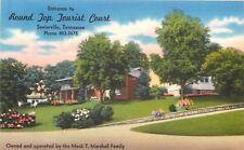 Sevierville Tennessee~Round Top Tourist Court~Hillside~Mack Marshall~1940s Linen