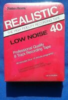 Blank Nos Realistic (1989, 8-Track Cart) 40:00 Stereo Radio Shack Low-Noise HiFi