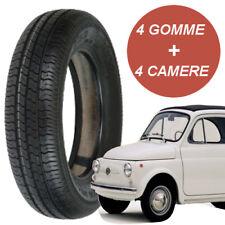 4 Pneumatici Gomme 125 -12 63S + 4 CAMERE D'ARIA PER FIAT 500 EPOCA