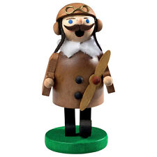Small Wooden Flying Pilot Made In Germany Incense Burner Smoker