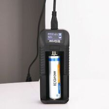 1-Bay 3.7V Smart Battery Charger W/ LCD For 18650 26650 18500 18350 17670 18350