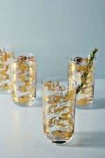 NWT Anthropologie SET OF FOUR Dorota Highball Glasses -SOLD-OUT