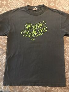 Fox Racing T Shirt Mens Meduim Gray Green EUC