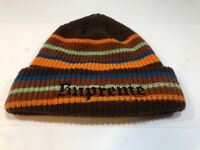 Supreme Bright Stripe Beanie Brown/Orange Old English