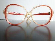 Vintage Opta Katowice red clear women eyeglasses 80's eyewear nos Poland Brille