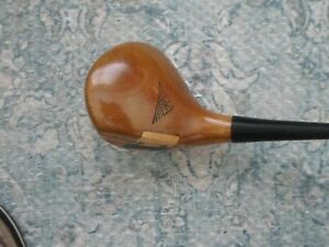 RARE VINTAGE MACGREGOR TOURNEY M85W EYE-O-MATIC OIL HARDENED PERSIMMON 2 WOOD