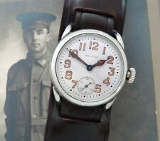 Men's Antique Vintage WWI Era Waltham Watch Co. Oversized Trench Watch -SERVICED