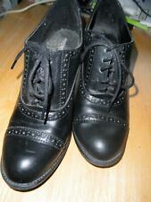 Nice Old Fashioned c1880 Cowboy Western Style Lace Up Black Cowgirl Dress Shoe