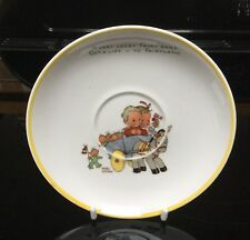 Shelley Mabel Lucie Attwell Fairy Band Saucer With Yellow Rim
