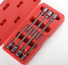 3/8 Extra Long Torx Deep Bit Socket Set Star Torque 7pc CRV with CASE NEW