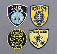 Georgia GA Augusta Jesup Richmond County Warner Robins Police Patches - Lot of 4