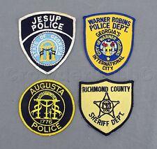 Georgia GA Augusta Jesup Richmond County Warner Robins Police Patches - Lot of 4