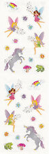 Mrs. Grossman's Stickers - Reflections Fantasy, Petite - Unicorn Fairy -3 Strips