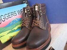 Loggers Wear~Bark Brown OIL RESISTANT Leather Upper WORK BOOTS~Men's Size 8 D