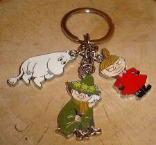Moomin Valley Character Moomintroll Little My Snufkin Metal Keychain Keyring