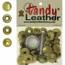 Tandy Leather 5/16 Inch Line 24 Snap fastener kit CT.15 w/Tools - Gold
