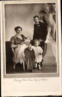Ansichtskarte PK sw Erzherzog Carl Franz Josef m. Familie Porträt gelaufen 1917