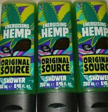 Original Source Energising Hemp Shower Gel 250ml x3