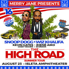"Snoop Dogg / Wiz Khalifa ""High Road Summer Tour"" 2016 Concert Poster - 2 Styles"