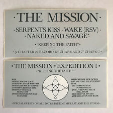The Mission UK/Sisters of Mercy, 2 ORIGINAL 1986 PROMO STICKERS! (Goth Nephilim)
