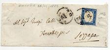 ANTICHI STATI 1855 SARDEGNA 20 C. AZZ. SCURO SU PICCOLA BUSTA NOVARA26/12 Z/2593