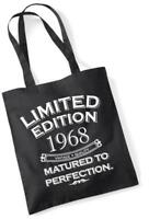51st Birthday Gift Tote Shopping Bag Limited Edition 1968 Matured To Perfection