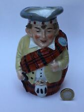 More details for antique 19th c scotsman character jug german porcelain, victorian, kilt tartan