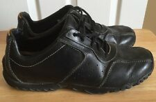 Timberland Size 9m Black Leather Manmade Shoes Men's