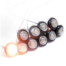 "10pcs 12V 1"" Eyeball LED Stair Step Light Boat Ship RV Trailer Side Marker Amber"