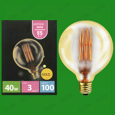 4x 40W Antico Vintage Oro G125 Regolabile Globe Lampadine Vite ES E27 lampadine