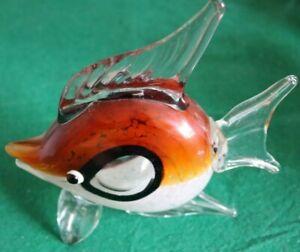 Display Glass Tropical Fish - Decorative Glass Ornament - 20cm Long & 20cm High