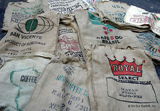 LOT 5 Burlap Jute Coffee Bean Bag Sack Crafts Garden Dirt Planter Gunny Sack