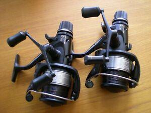 Pair Shimano Aero 8000RE Ltd  Edition Baitrunner Reels c/w Spare Spools