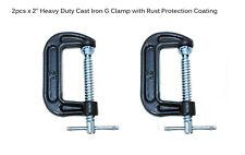 "2"" 55mm G-Clamp 2pcs set Heavy Duty Cast Iron Workbench Grip Metalwork Woodwork"